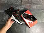 Мужские кроссовки Nike (черно-красные), фото 5