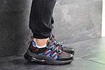Чоловічі кросівки Nike (чорно-сині), фото 3