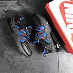 Чоловічі кросівки Nike (чорно-сині), фото 4