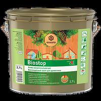 """Алкидная деревозащитная грунтовка ТМ """"Eskaro"""" Biostop (безцветный) - 2,7 л."""