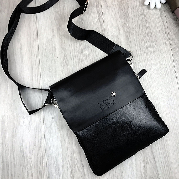 Брендовая мужская сумка-планшетка MontBlanc черная эко кожа качественная МонБлан премиум реплика