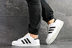 Чоловічі кросівки Adidas Superstar (біло-чорні), фото 3