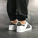 Чоловічі кросівки Adidas Superstar (біло-чорні), фото 4