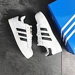 Чоловічі кросівки Adidas Superstar (біло-чорні), фото 5