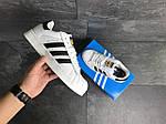 Чоловічі кросівки Adidas Superstar (біло-чорні), фото 6