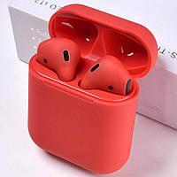 Беспроводные наушники AirPods i12 RED Сенсорные Apple 1:1 Оригинал