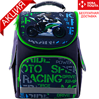 Рюкзак школьный каркасный Kite Education Racing K19-501S-12 (рюкзак для мальчика 6-8 лет, первоклассника)