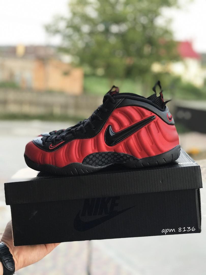 Чоловічі кросівки Nike Air Foamposite Pro (чорно-червоні)