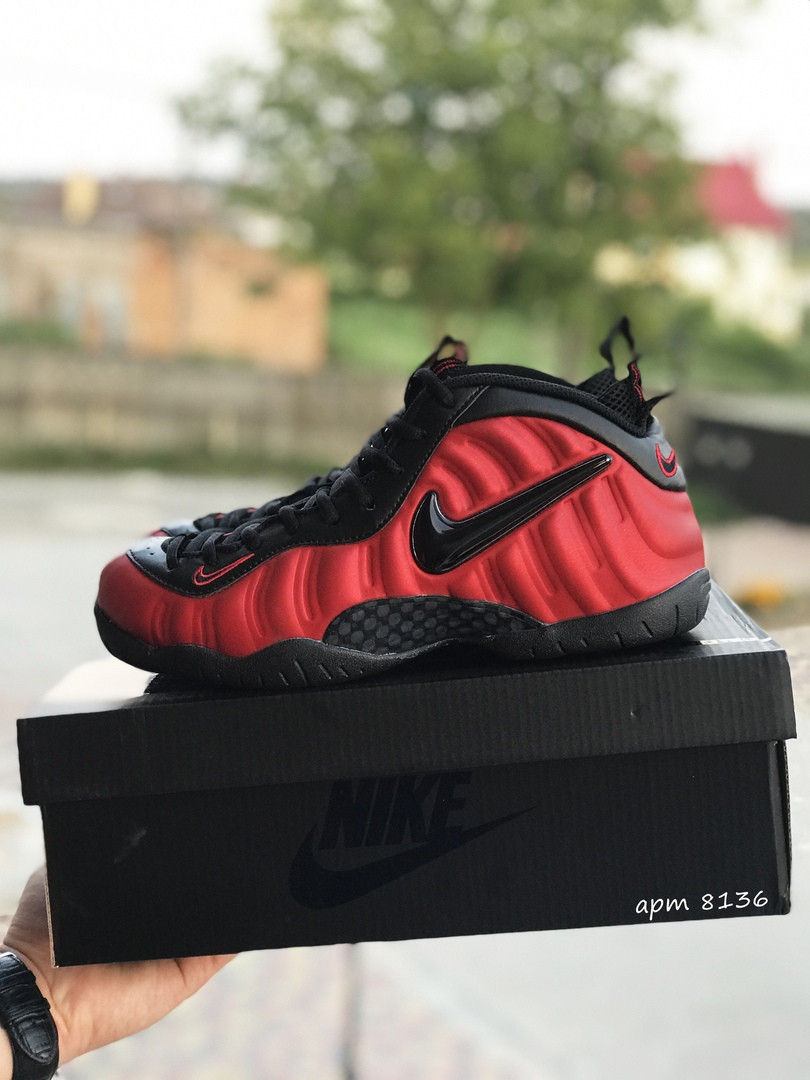 Мужские кроссовки Nike Air Foamposite Pro (черно-красные)