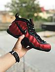 Чоловічі кросівки Nike Air Foamposite Pro (чорно-червоні), фото 2