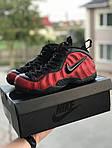 Чоловічі кросівки Nike Air Foamposite Pro (чорно-червоні), фото 3