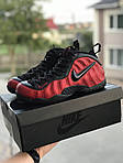 Мужские кроссовки Nike Air Foamposite Pro (черно-красные), фото 3