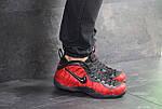 Чоловічі кросівки Nike Air Foamposite Pro (чорно-червоні), фото 4