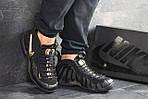 Чоловічі кросівки Nike Air Foamposite Pro (чорно-золотисті), фото 5