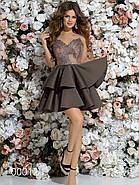 Платье на тонких бретельках с пышной юбкой, 00012 (Бежевый), Размер 42 (S), фото 2