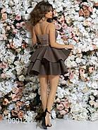 Платье на тонких бретельках с пышной юбкой, 00012 (Бежевый), Размер 42 (S), фото 3
