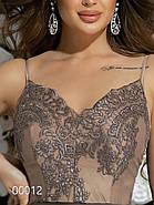 Платье на тонких бретельках с пышной юбкой, 00012 (Бежевый), Размер 42 (S), фото 4