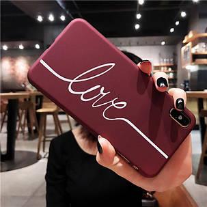 Чехол Case Title Love Red для Apple IPhone 7/8, фото 2