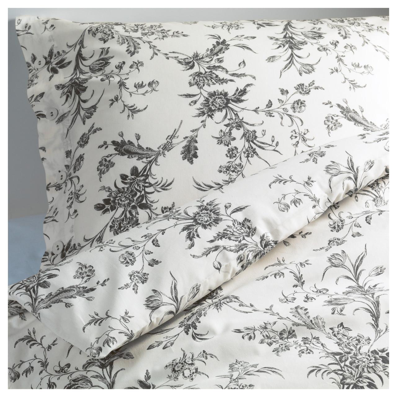 ALVINE KVIST Комплект постельного белья, белый, серый 101.596.31