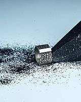"""Кольцо из серебра 925 пробы с фактурой """"кожа"""" и чернением"""