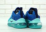 Чоловічі кросівки Nike Air Max 720 (блакитні), фото 3