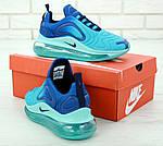 Чоловічі кросівки Nike Air Max 720 (блакитні), фото 4