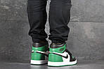 Чоловічі кросівки Nike Air Jordan 1 Retro High OG (біло-чорно-зелений), фото 2