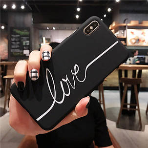 Чехол Case Title Love Black для Apple IPhone 7/8, фото 2