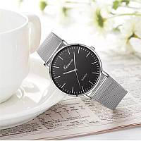 Женские часы Geneva Classic steel watch серебро, жіночий наручний годинник, наручные кварцевые часы Женева