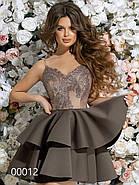 Платье на тонких бретельках с пышной юбкой, 00012 (Бежевый), Размер 42 (S), фото 5