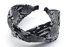 Стильний обруч для дівчини чалма тигровий