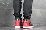 Мужские кроссовки Nike Air Jordan 1 Retro High OG (черно-красные), фото 4