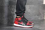 Мужские кроссовки Nike Air Jordan 1 Retro High OG (черно-красные), фото 5