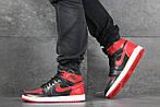 Мужские кроссовки Nike Air Jordan 1 Retro High OG (черно-красные), фото 6