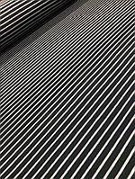 Полушерстяная ткань ангора черная с серой полосой, фото 1