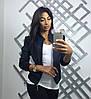Куртка женская замша синего цвета