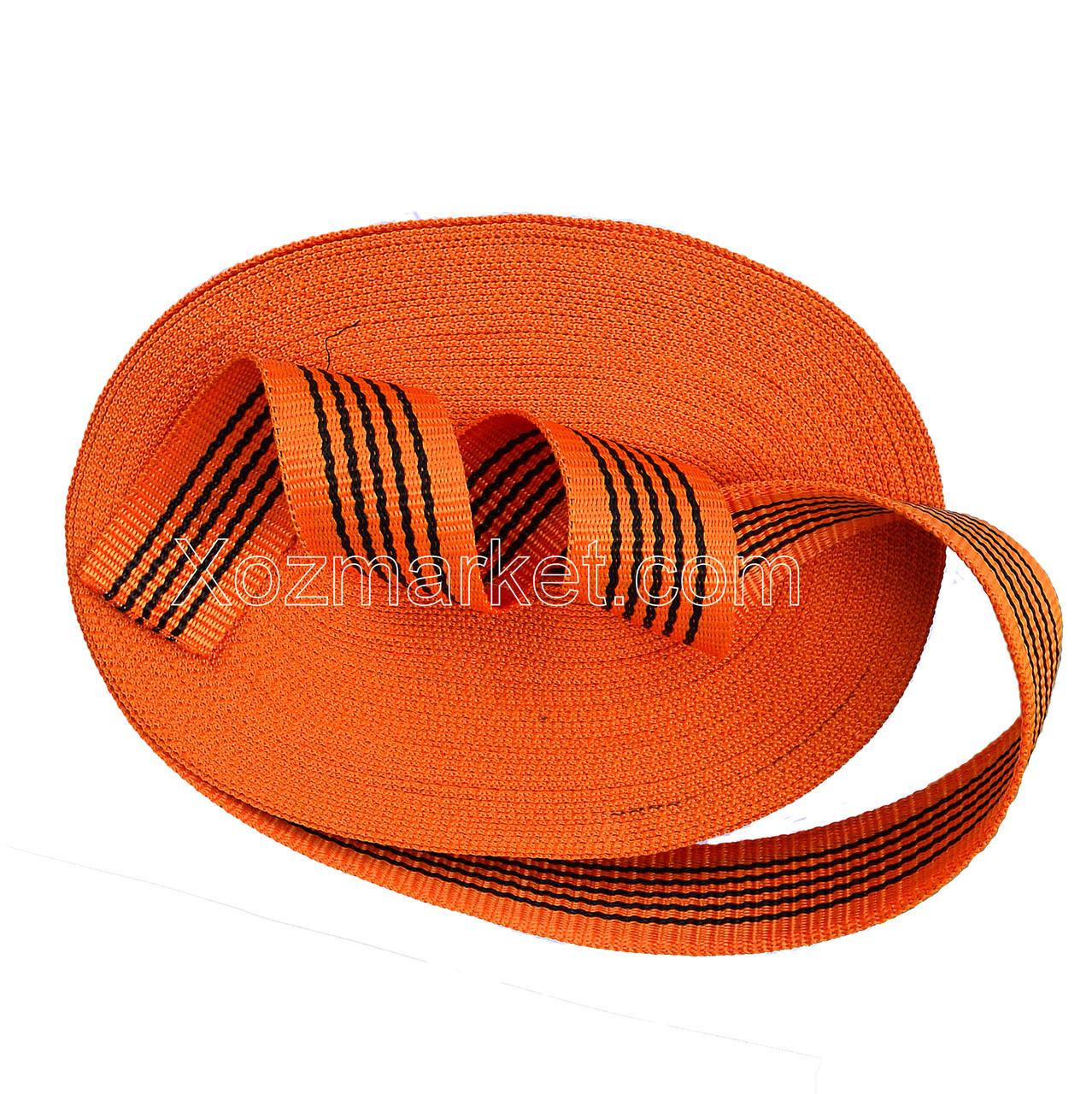 Лента 50 мм*25 м оранжевая буксировочная (Стрічка для буксирування авто)  (помаранчева)