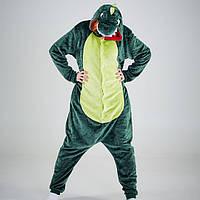 Кигуруми для взрослых Динозавр Зеленый