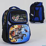 Рюкзак школьный каркасный   2 отделения, 2 отделения внутри, спинка ортопедическая, фото 2