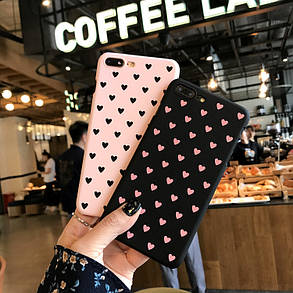 Чехол Case Cover Pink Hearts для Apple IPhone X, фото 2