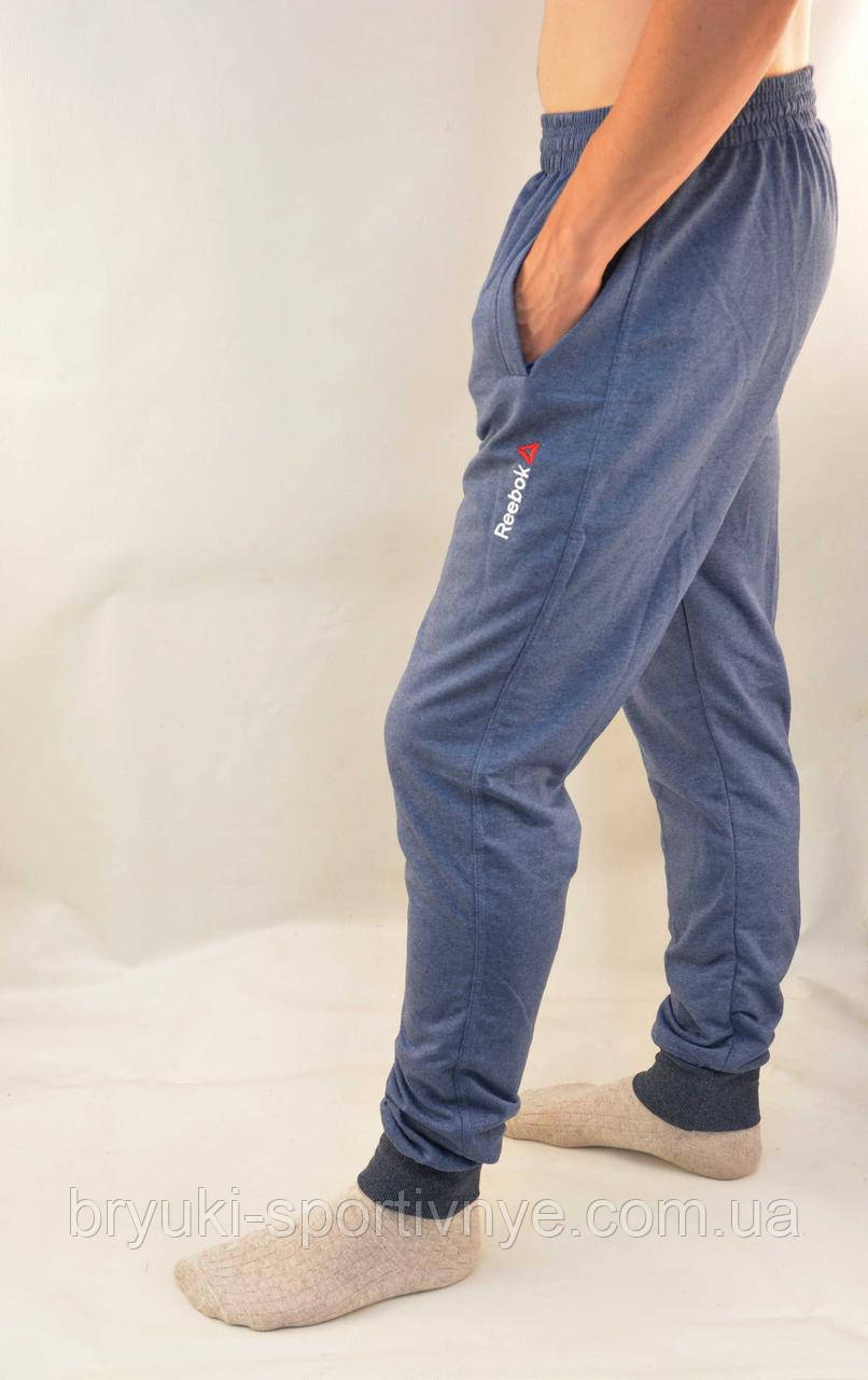 Брюки спортивные мужские под манжет - трикотаж в новом модном цвете парламент S - XXL Штаны спортивные - бренд