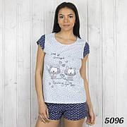 """Пижама женская.Комплект-двойка женский: футболка и шорты с принтом """"Котики"""" Pink Secret (Турция)  р.М."""
