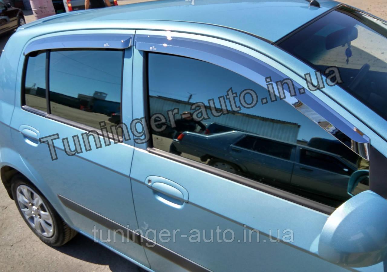 Ветровики, дефлекторы окон Hyundai Getz 2002-2011 (Autoclover/Корея)