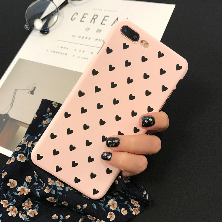 Чехол Case Cover Black Hearts для Apple IPhone X