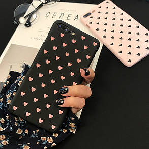 Чехол Case Cover Black Hearts для Apple IPhone X, фото 2
