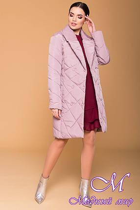 Женское демисезонное стеганное пальто (р. S, M, L) арт. Сандра 4440 - 21319, фото 2