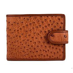 Мужское портмоне из кожи страуса Mosart Custini 3728 коричневый