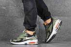 Чоловічі кросівки Nike Air Max 2 (зелено-чорні), фото 2