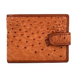 Мужское портмоне из кожи страуса Mosart Custini 3727 коричневый