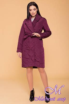 Женское стеганное пальто весна осень (р. S, M, L) арт. Сандра 4440 - 41375, фото 2